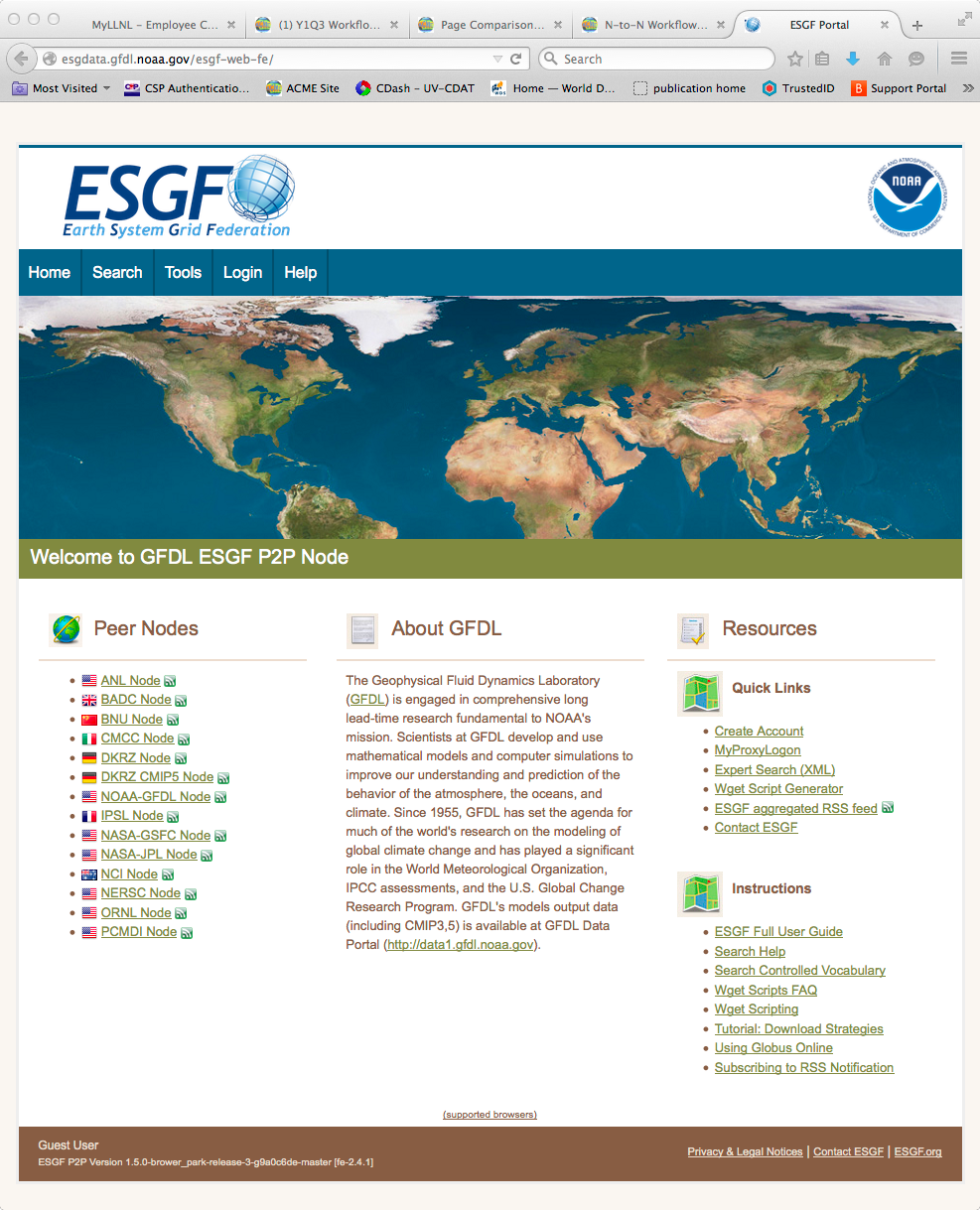 NOAA ESGF Page